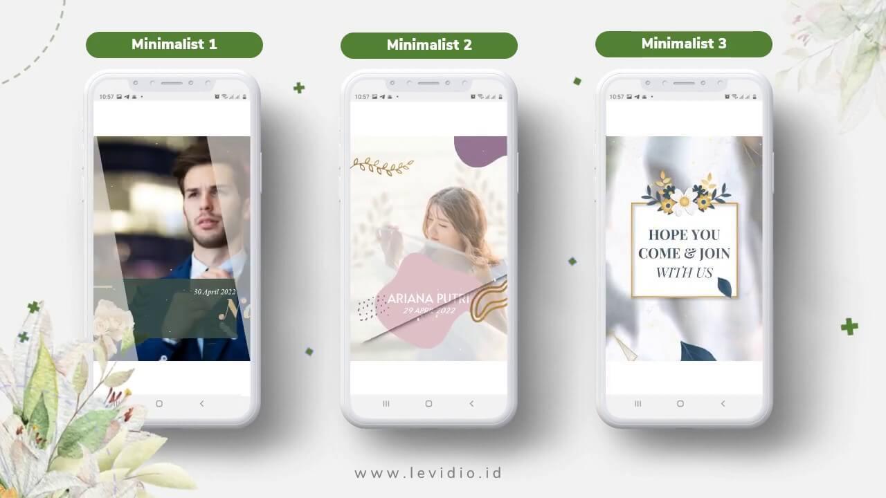 Video Undangan Pernikahan Radigi Wedding Minimalis 1-3